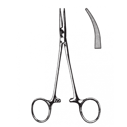 PINZA HALSTED-MOSQUITO CURVA 12,5 CM