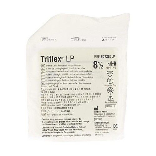 GUANTI CHIRURGICI STERILI TRIFLEX TALCATI MIS.8,5