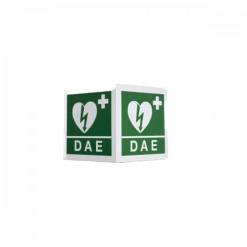 Cartello Dae Defibrillatore Bifacciale Cm.34x36