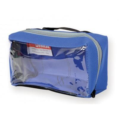 Borsa E1 Quadrata Con Finestra Blu