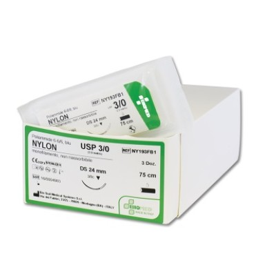Sutura Non Assorbibile Nylon Ds18 Usp 5/0 - 45 Cm