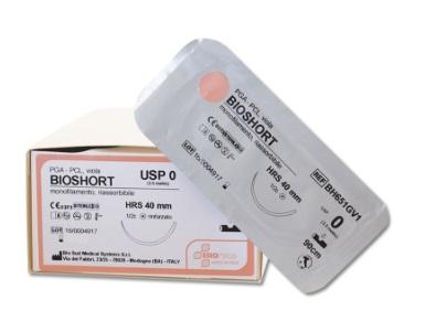 SUTURA MONOFILAMENTO BIOSHORT 2/0 HR26 - 70 CM