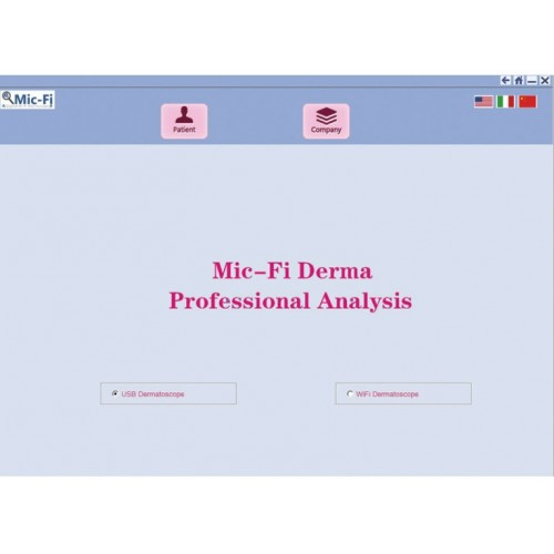 SOFTWARE PROFESSIONALE PER DERMATOSCOPIO WI-FI