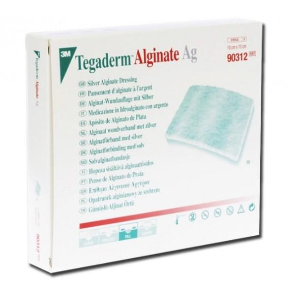 TEGADERM ALGINATE AG ARGENTO 10X10 CM.CONF. 10 PZ