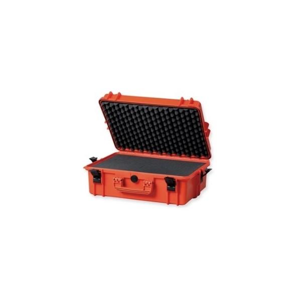 VALIGIA CASE 500 CON SPUGNA-ARANCIONE 55X42X21H CM