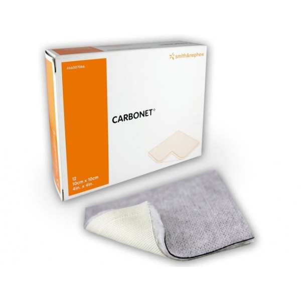 CARBONET MEDICAZIONE AL CARBONE CM 10X10-10 PEZZI