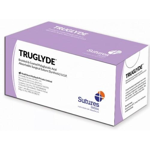 SUTURE ASSORBIBILI TRUGLYDE 2/0 3/8 24MM VIOLA