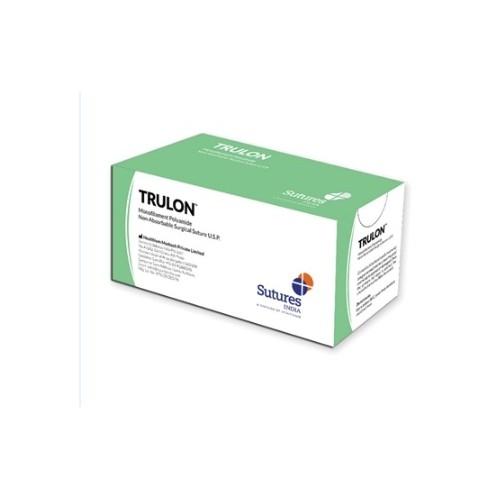 SUTURE NON ASSORBIBILI TRULON 2/0 3/8C 26MM BLU