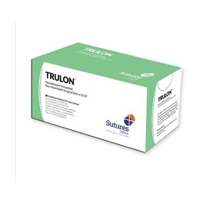 SUTURE NON ASSORBIBILI TRULON 5/0 3/8C 19MM 75CM