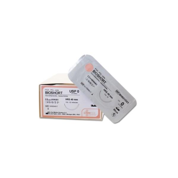 SUTURA BIOSHORT4/0 3/8C TRIAN DS16MM 70CM INCOLORE