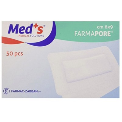 MEDICAZIONE ADESIVA CM 6X9 FARMAPORE TNT 50 PZ