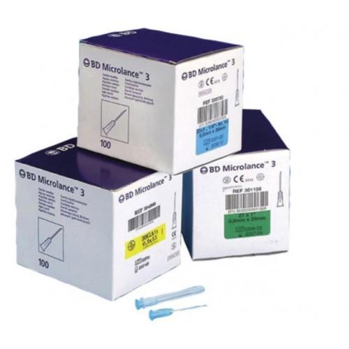 AGO MICROLANCE 22G 0,70X30 MM NERO CONF. 100 PZ